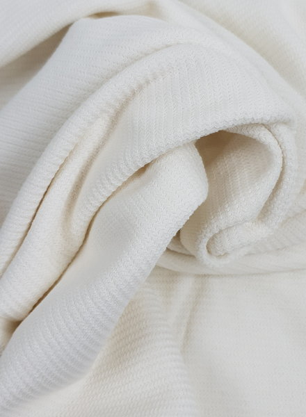 white - knitted fabric