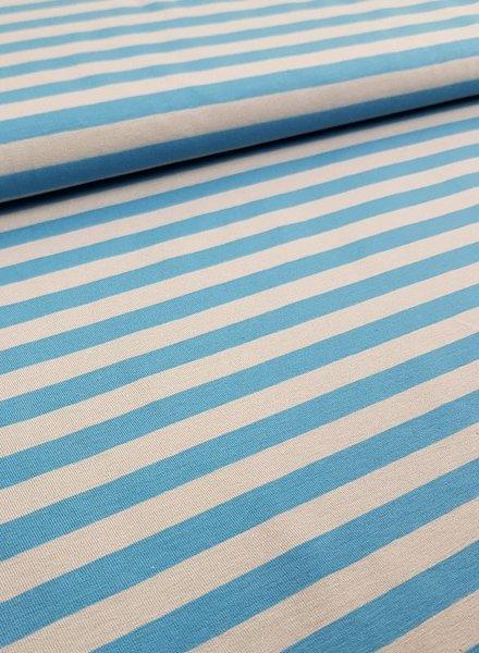 blauw grijs strepen 1 cm - tricot