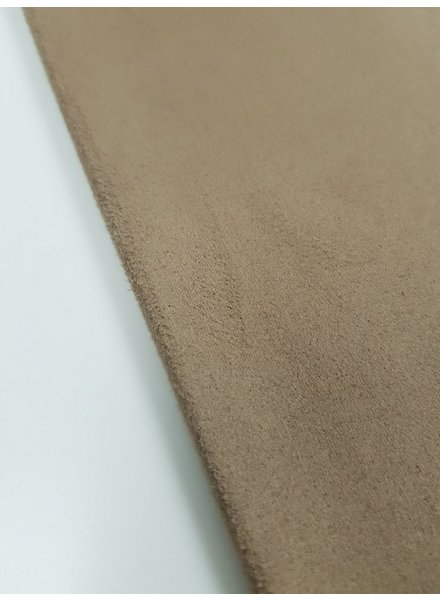 taupe - stretch suede