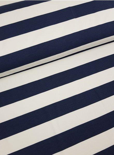marineblauwe - brede strepen sweater