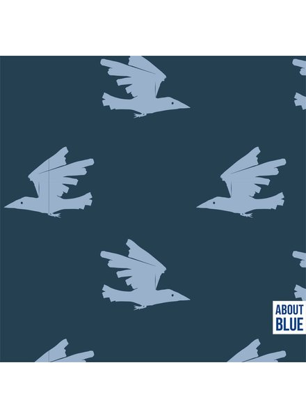 about blue fabrics Birds are coming - french terry