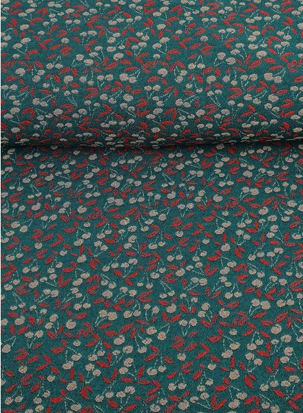 cherries love - woven jacquard