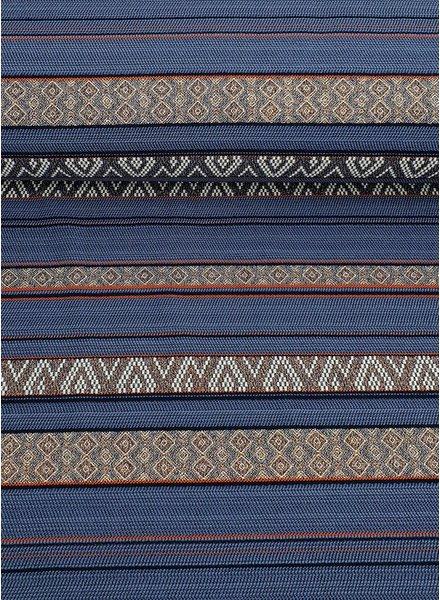 copper and blue - geweven jacquard