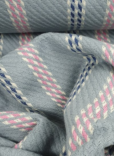 grey and pink -  woven  jacquard