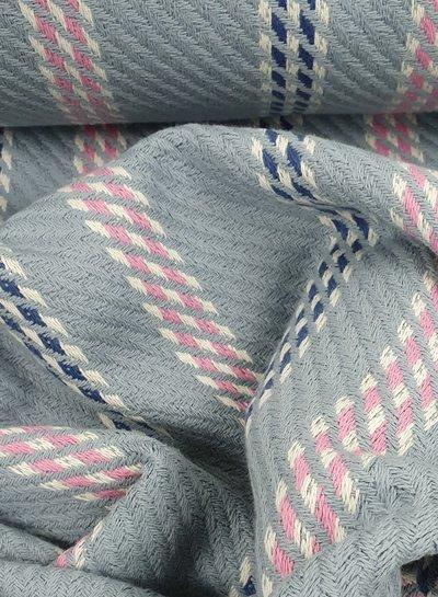 grijs en roze -  geweven jacquard deluxe