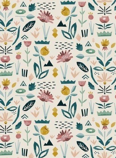 colored garden - cotton