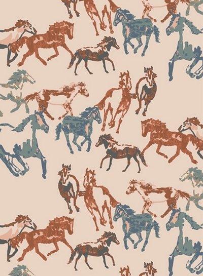 ART GALLERY FABRICS Spirited horses - katoen