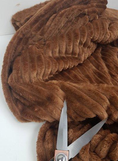 brown  corduroy look fleece