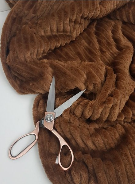 bruine corduroylook fleece