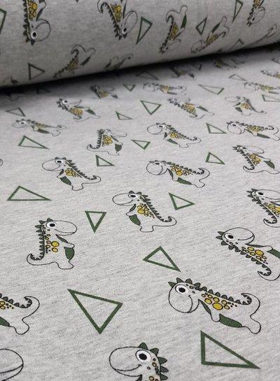 dino green - happy fleece