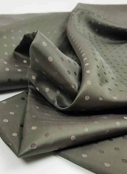 valentino Valentino khaki dots -  viscose / silk voering