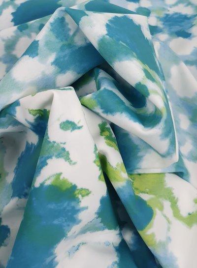 La Perla turquoise dyed  badpakkenstof - lycra