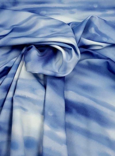 La Perla blauw dyed badpakkenstof - lycra