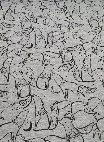 wolves - sweater melange