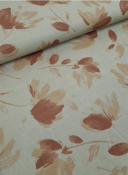 camel leaves - Italian linen