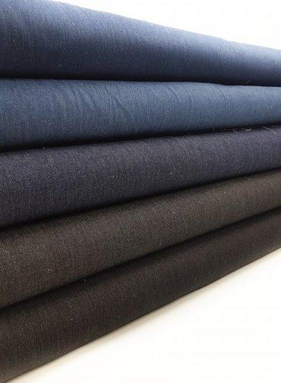 9.5oz - washed denim comfort stretch - vintage black