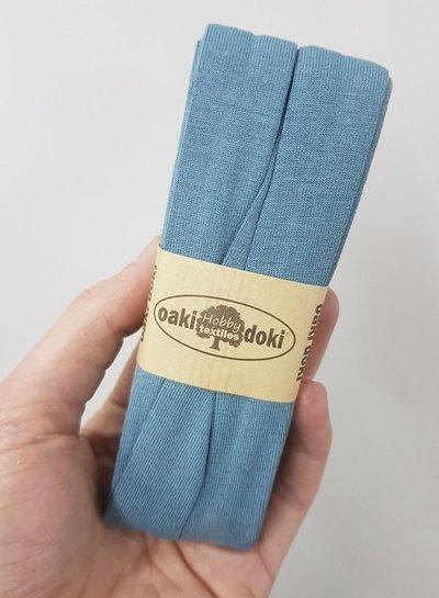 grijsblauw 245 -  biais tricot 3 meter