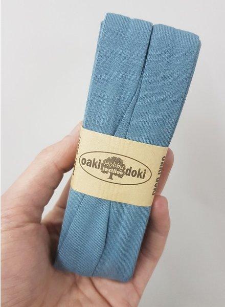 grey blue 245 -  biais jersey 3 meter