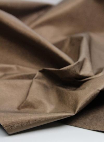 linnen look brons - metallic vegan leather