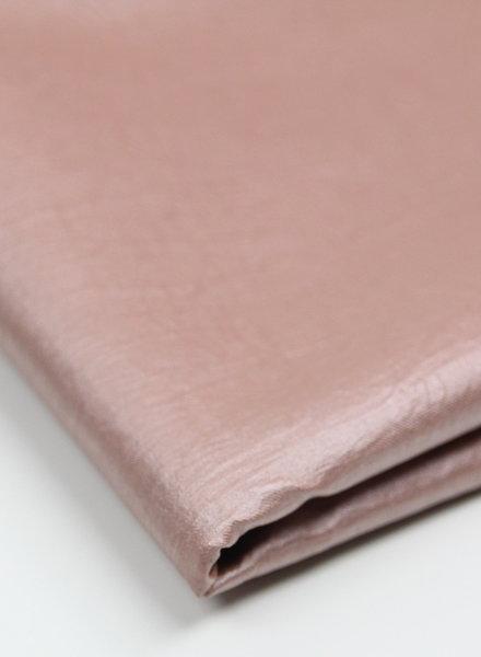 wrinkled roze - vegan metallic imitatieleer