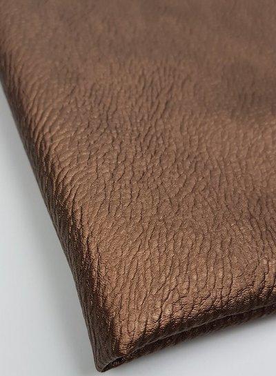 brons textured - vegan metallic faux leather