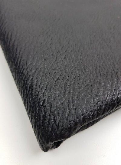 black textured - vegan metallic imitatieleer