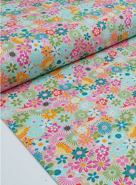 ART GALLERY FABRICS Playroom flowers all around - cotton