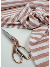 rust stripes -  tetra/double gauze