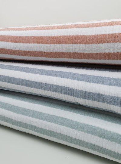 mint stripes -  tetra/double gauze