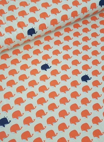 orange whales - jersey