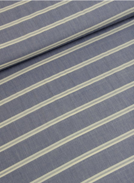 La Maison Victor LMV stripes blue - viscose mix