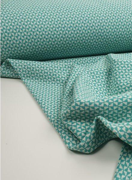mint geometric - textured jersey