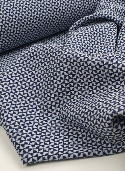 blue geometric - textured jersey