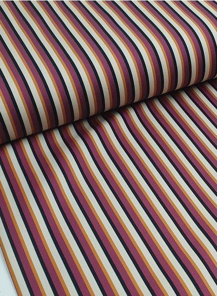La Maison Victor lmv fuchsia stripes - stretch cotton