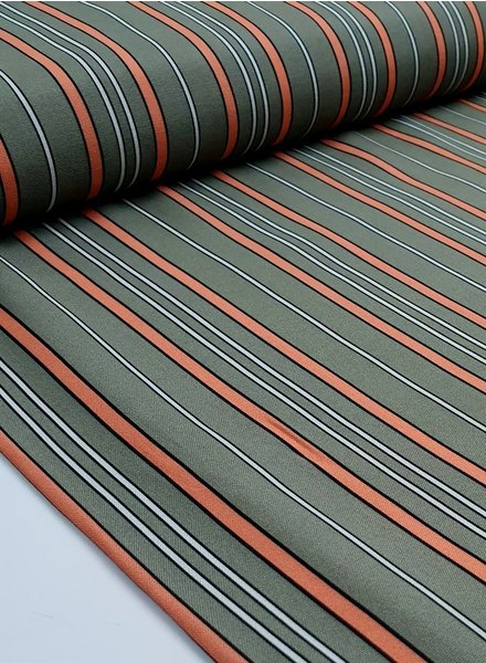 La Maison Victor lmv salmon stripes - viscose