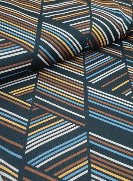 classy stripes - crepe