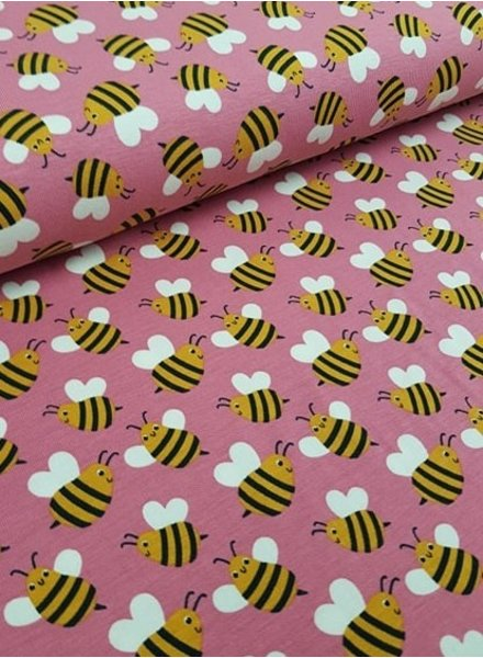 pink bees - tricot