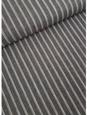 brown stripes - linen cotton mix