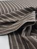 bruin streepjes - linnen katoen mix