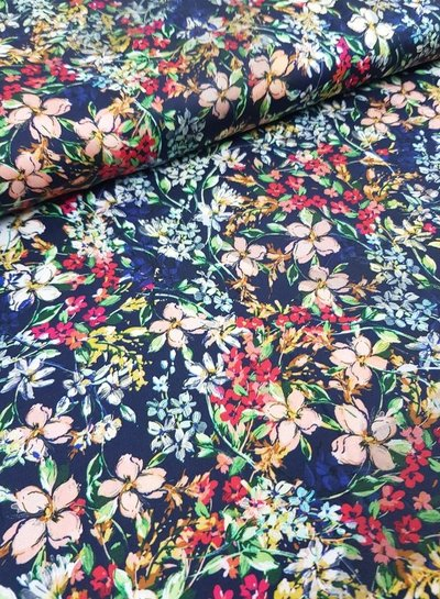 heavy colored flowers - viscose