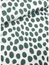 kaki dots - viscose tricot