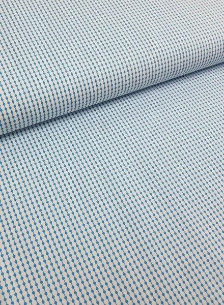 light blue motif - easy iron - cotton