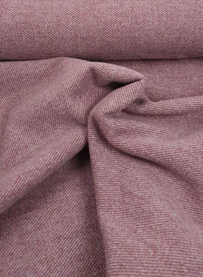 dusty pink - diagonaal mantelstof