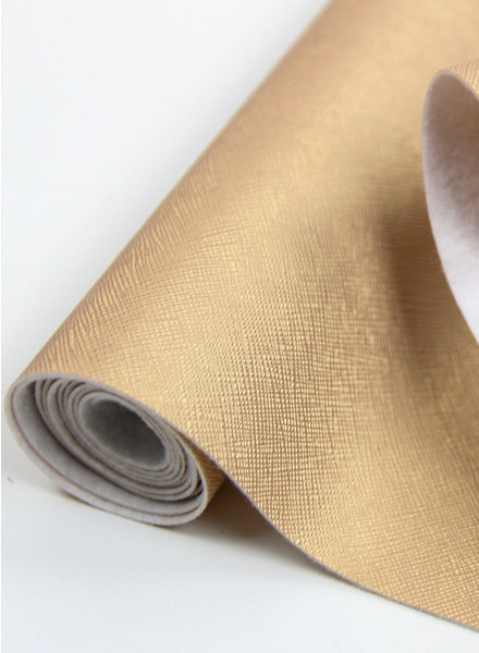 linen look gold - metallic vegan leather