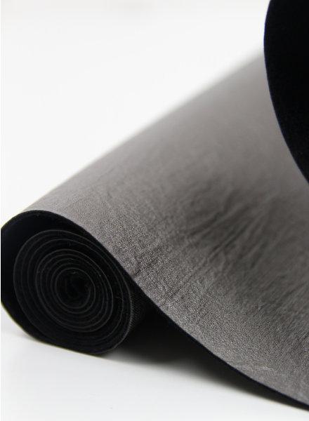 wrinkled grijs - vegan metallic imitatieleer