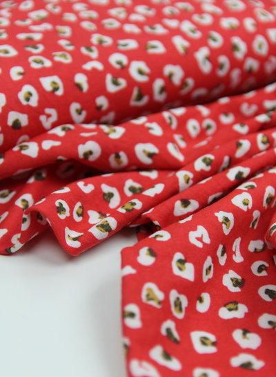 red leopard - viscose jersey