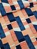navy bricks - viscose