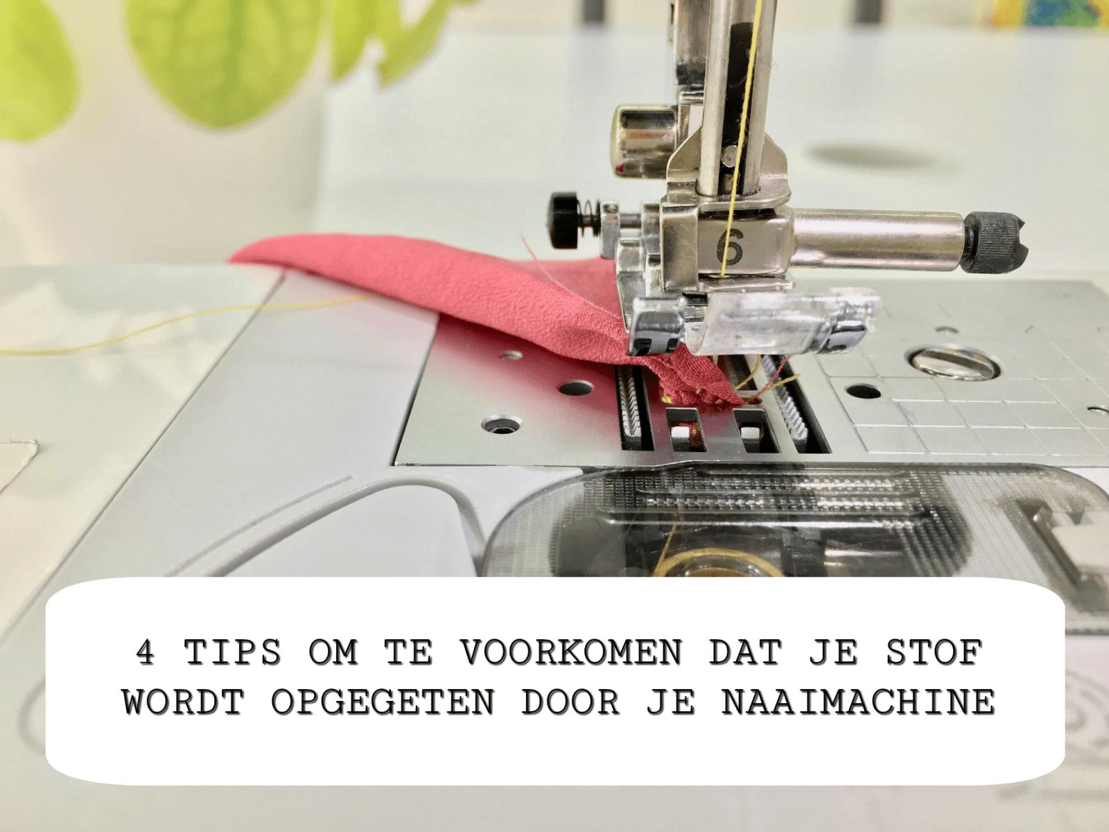 4 Tips om te voorkomen dat je naaimachine je stof opeet!