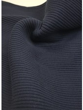 marineblauw - thick ridge ribbing