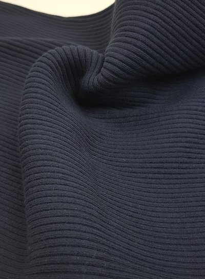 marineblauw - extra dikke ribbel boordstof